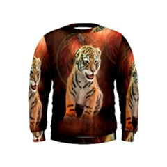 Cute Little Tiger Baby Kids  Sweatshirt