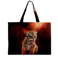 Cute Little Tiger Baby Zipper Mini Tote Bag