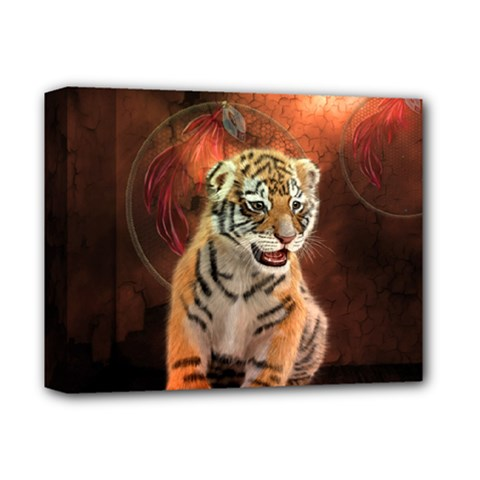 Cute Little Tiger Baby Deluxe Canvas 14  X 11