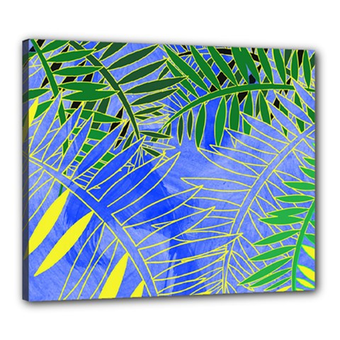 Tropical Palms Canvas 24  X 20