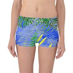 Tropical Palms Reversible Boyleg Bikini Bottoms