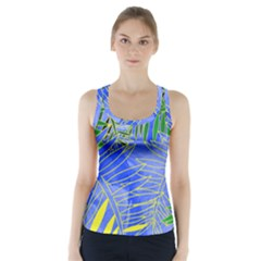 Tropical Palms Racer Back Sports Top