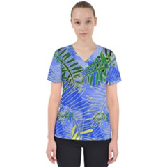 Tropical Palms Scrub Top