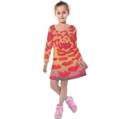 Inner Glow Kids  Long Sleeve Velvet Dress