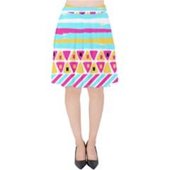 Tribal Velvet High Waist Skirt