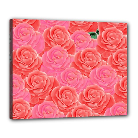 Roses Canvas 20  X 16
