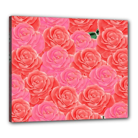 Roses Canvas 24  X 20