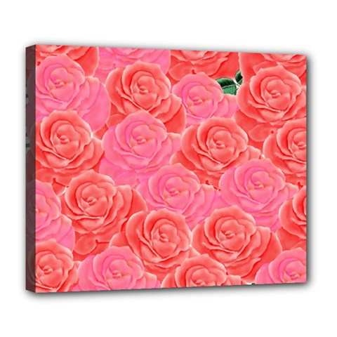 Roses Deluxe Canvas 24  X 20