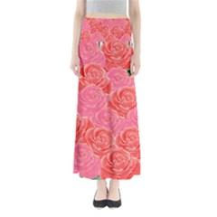 Roses Full Length Maxi Skirt