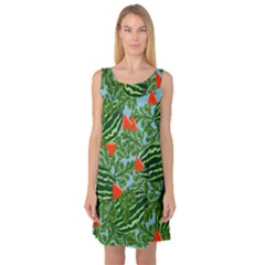 Juicy Watermelons Sleeveless Satin Nightdress