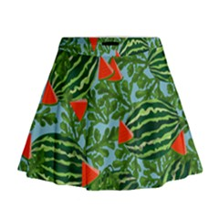 Juicy Watermelons Mini Flare Skirt
