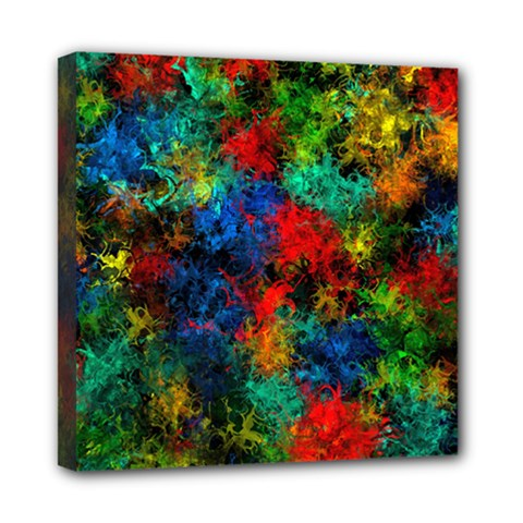 Squiggly Abstract A Mini Canvas 8  X 8