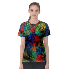Squiggly Abstract A Women s Sport Mesh Tee