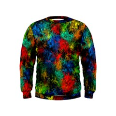 Squiggly Abstract A Kids  Sweatshirt