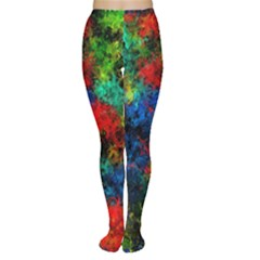 Squiggly Abstract A Women s Tights