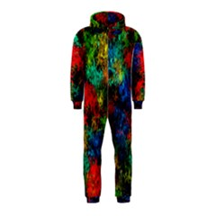 Squiggly Abstract A Hooded Jumpsuit (kids)