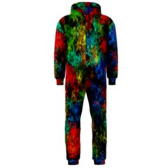 Squiggly Abstract A Hooded Jumpsuit (men)
