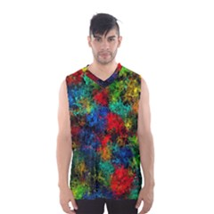 Squiggly Abstract A Men s Basketball Tank Top