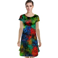 Squiggly Abstract A Cap Sleeve Nightdress