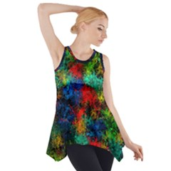 Squiggly Abstract A Side Drop Tank Tunic