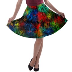Squiggly Abstract A A Line Skater Skirt