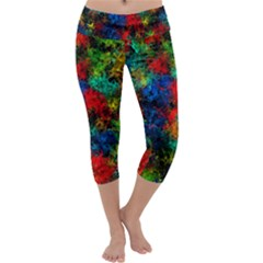 Squiggly Abstract A Capri Yoga Leggings
