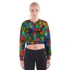 Squiggly Abstract A Cropped Sweatshirt