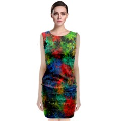 Squiggly Abstract A Classic Sleeveless Midi Dress