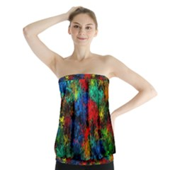 Squiggly Abstract A Strapless Top