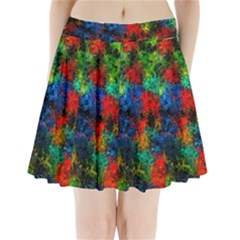 Squiggly Abstract A Pleated Mini Skirt
