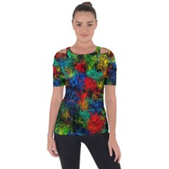 Squiggly Abstract A Short Sleeve Top