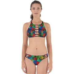 Squiggly Abstract A Perfectly Cut Out Bikini Set
