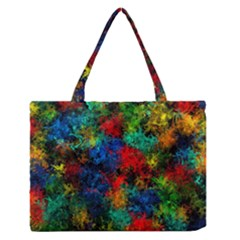 Squiggly Abstract A Zipper Medium Tote Bag