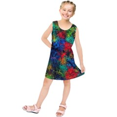 Squiggly Abstract A Kids  Tunic Dress