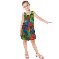 Squiggly Abstract A Kids  Sleeveless Dress