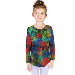 Squiggly Abstract A Kids  Long Sleeve Tee