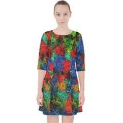 Squiggly Abstract A Pocket Dress