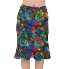 Squiggly Abstract A Mermaid Skirt