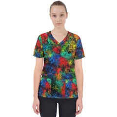 Squiggly Abstract A Scrub Top