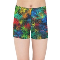 Squiggly Abstract A Kids Sports Shorts