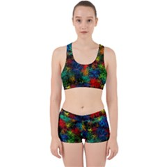 Squiggly Abstract A Work It Out Sports Bra Set