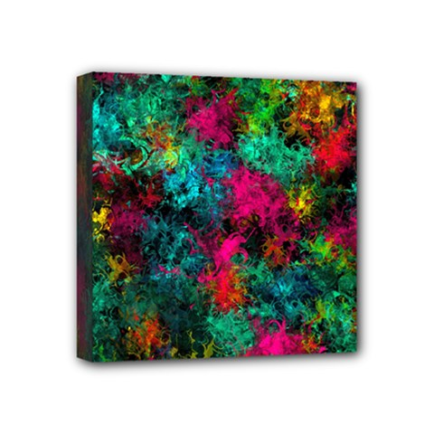 Squiggly Abstract B Mini Canvas 4  X 4