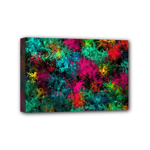 Squiggly Abstract B Mini Canvas 6  X 4