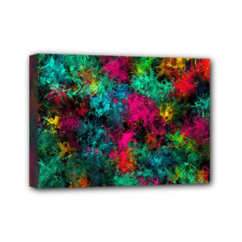Squiggly Abstract B Mini Canvas 7  X 5
