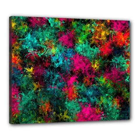Squiggly Abstract B Canvas 24  X 20