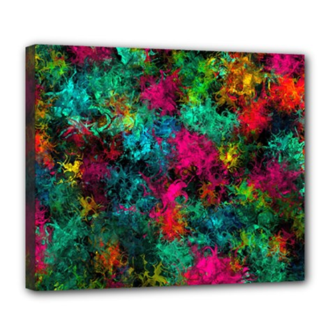 Squiggly Abstract B Deluxe Canvas 24  X 20