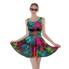 Squiggly Abstract B Skater Dress
