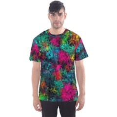 Squiggly Abstract B Men s Sports Mesh Tee