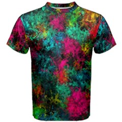 Squiggly Abstract B Men s Cotton Tee