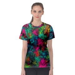 Squiggly Abstract B Women s Sport Mesh Tee